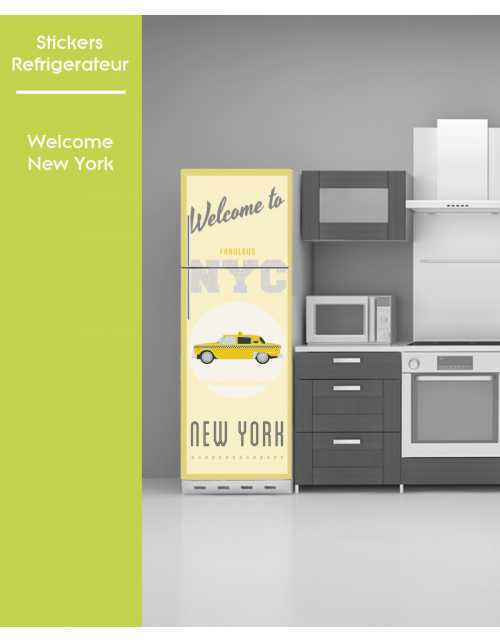 Sticker pour frigo - Welcome to New York