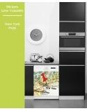 Sticker pour Lave Vaisselle - New York Map
