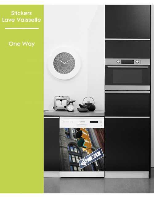 Sticker pour Lave Vaisselle - One Way