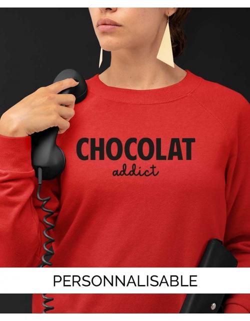 Sweat Chocolat Addict Pilou et Lilou