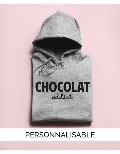 Sweat à capuche Chocolat Addict Pilou et Lilou