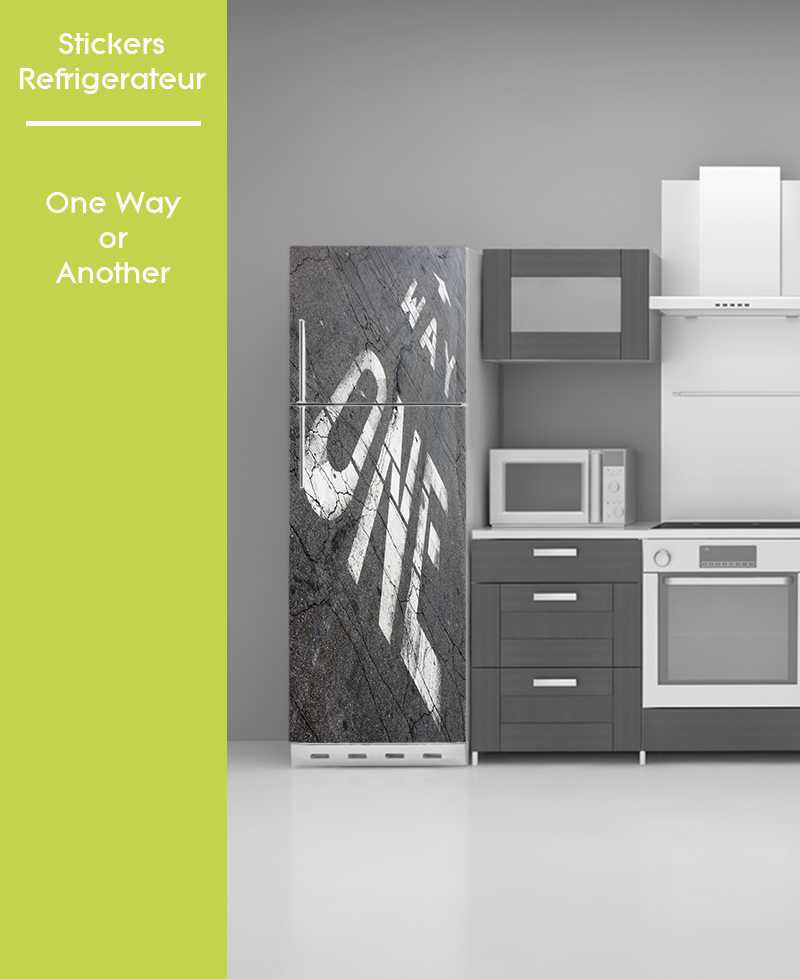 Sticker pour frigo - One way or another