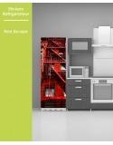 Sticker pour frigo - Red Escape