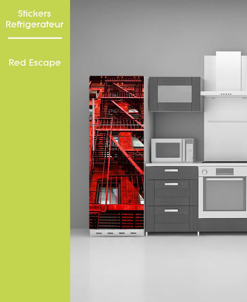 Sticker pour frigo - Red Escape