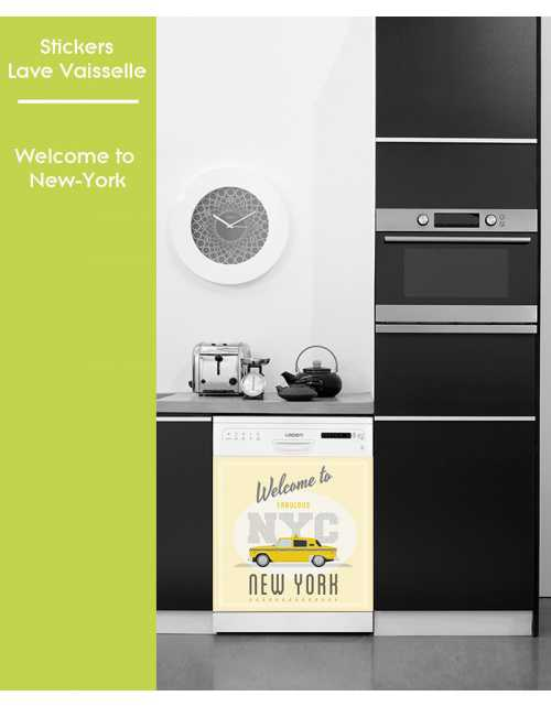 Sticker pour Lave Vaisselle - Welcome to New-York