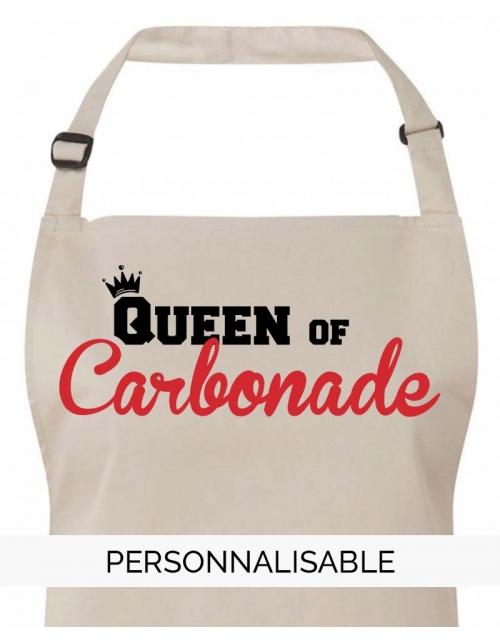 Tablier Queen of Carbonade à personnaliser