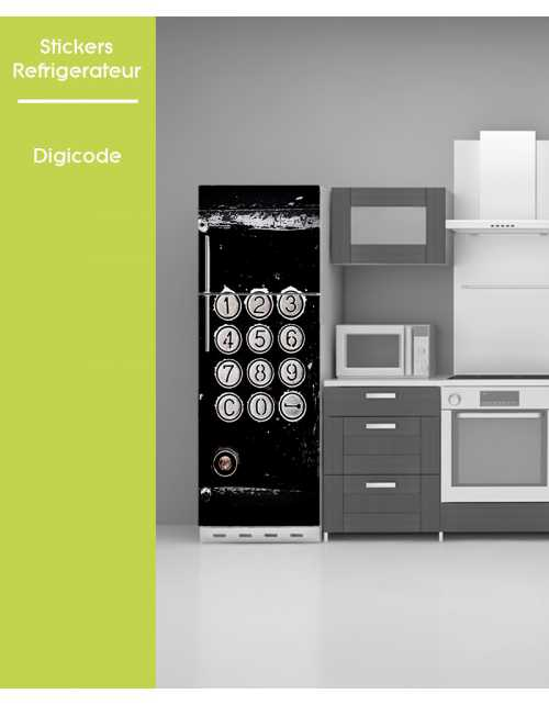 Sticker pour frigo - Digicode