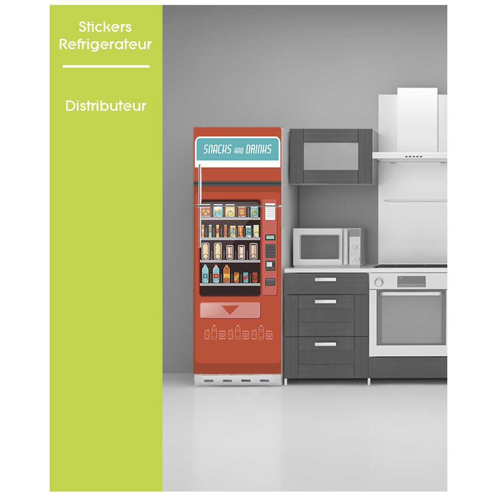 sticker pour frigo affiche vintage pose facile distributeur. Black Bedroom Furniture Sets. Home Design Ideas