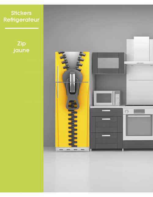 Sticker pour frigo - Zip Jaune