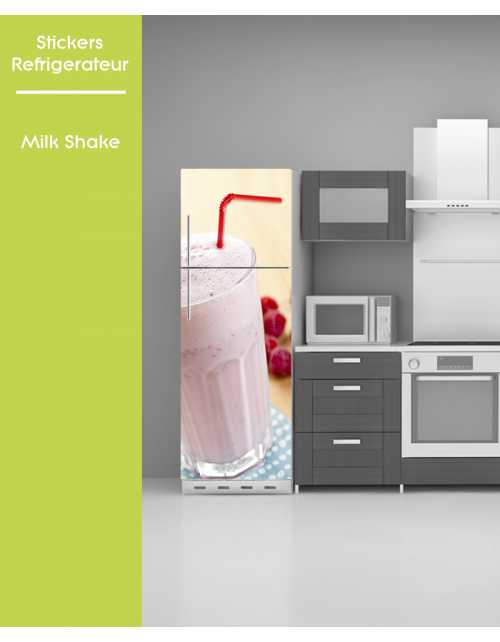 Sticker pour frigo - Milk shake