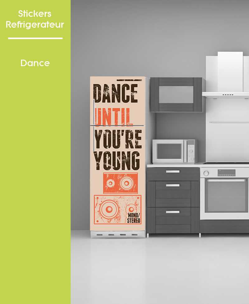 Sticker pour frigo - Dance
