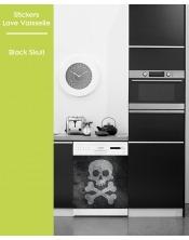 Sticker pour Lave Vaisselle - Black Skull