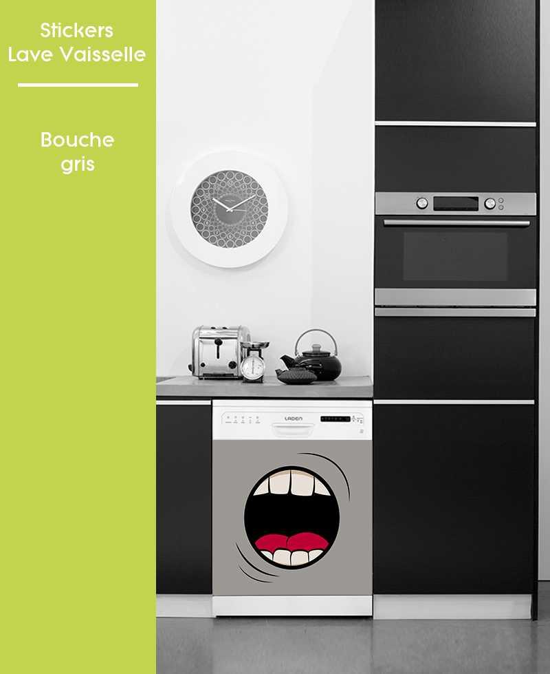 sticker pour lave vaisselle motifs bouche