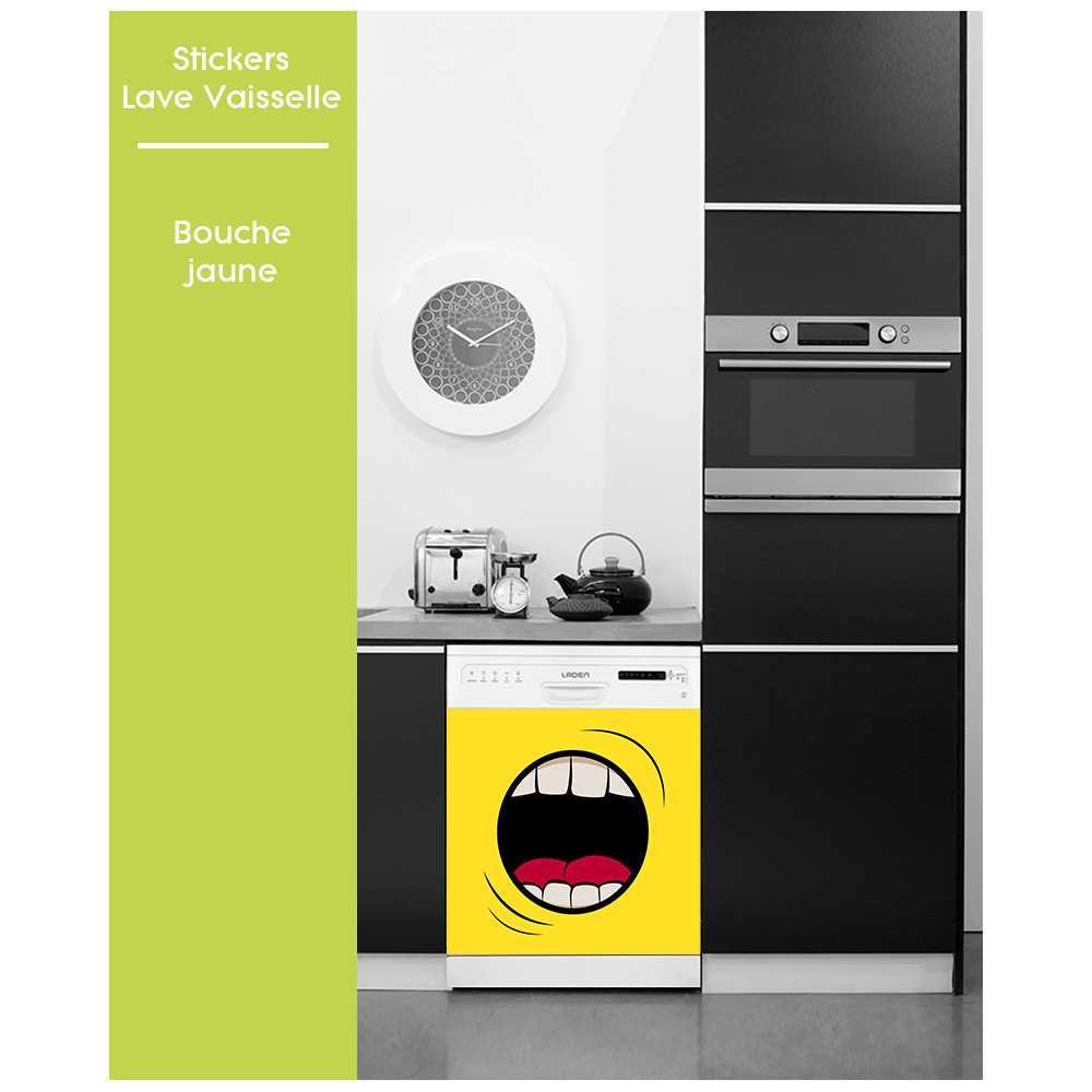 sticker pour lave vaisselle motifs fun bouche. Black Bedroom Furniture Sets. Home Design Ideas