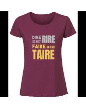 T-shirt flocage métallisé Femme