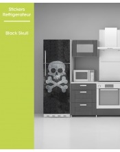 Sticker pour Frigo - Black Skull