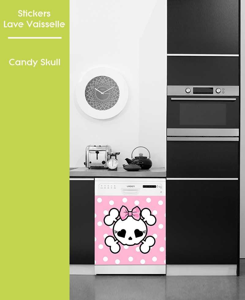 Sticker pour Lave Vaisselle - Candy Skull