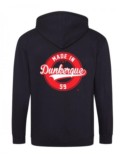 Veste à capuche zip Made in Dunkerque - Pilou et Lilou