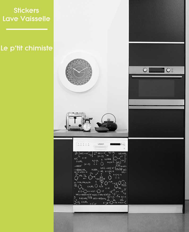 Sticker pour Lave Vaisselle - Le p'tit chimiste