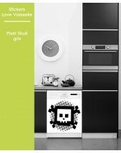 Sticker pour Lave Vaisselle - Pixel Skull