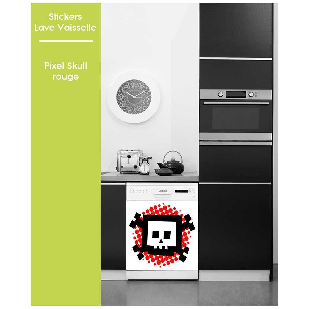 sticker pose facile pour lave vaisselle motifs fun pixel. Black Bedroom Furniture Sets. Home Design Ideas
