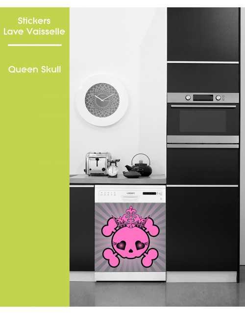 Sticker pour Lave Vaisselle - Queen Skull