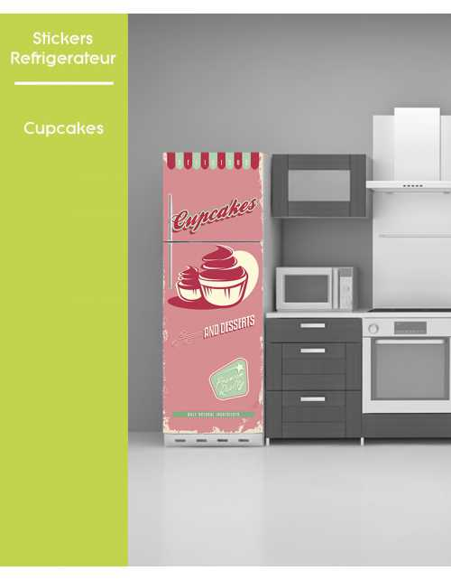 Sticker pour frigo - Cupcake