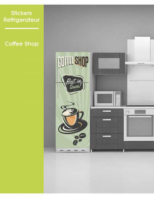Sticker pour frigo - Coffee Shop