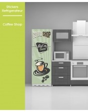 Sticker pour frigo - Coffee Shop