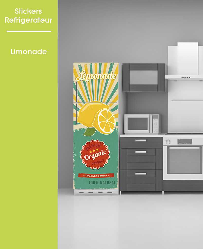 sticker pour frigo affiche vintage pose facile pub vintage usa. Black Bedroom Furniture Sets. Home Design Ideas