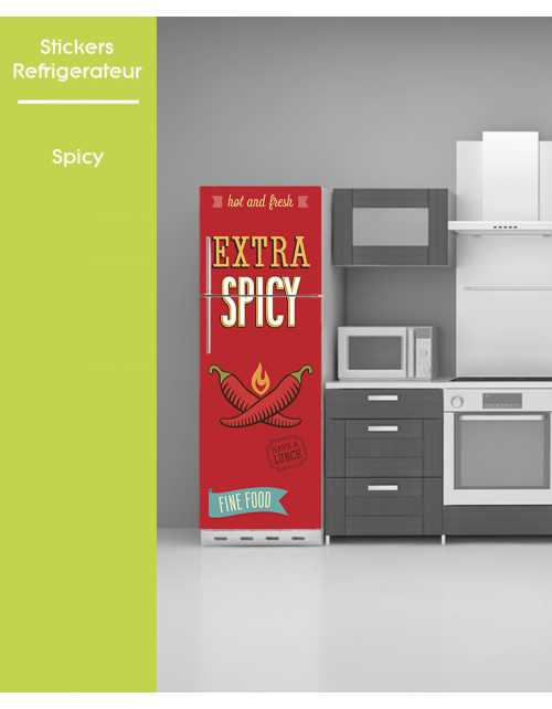 Sticker pour frigo - Spicy