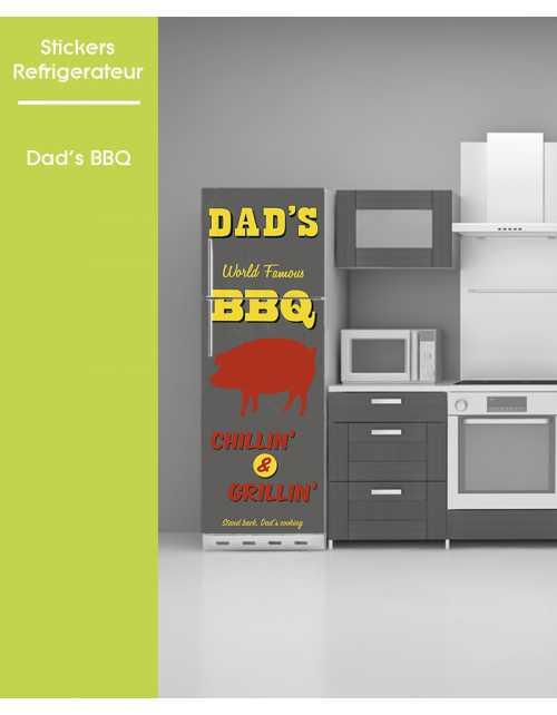Sticker pour frigo - Dad's BBQ