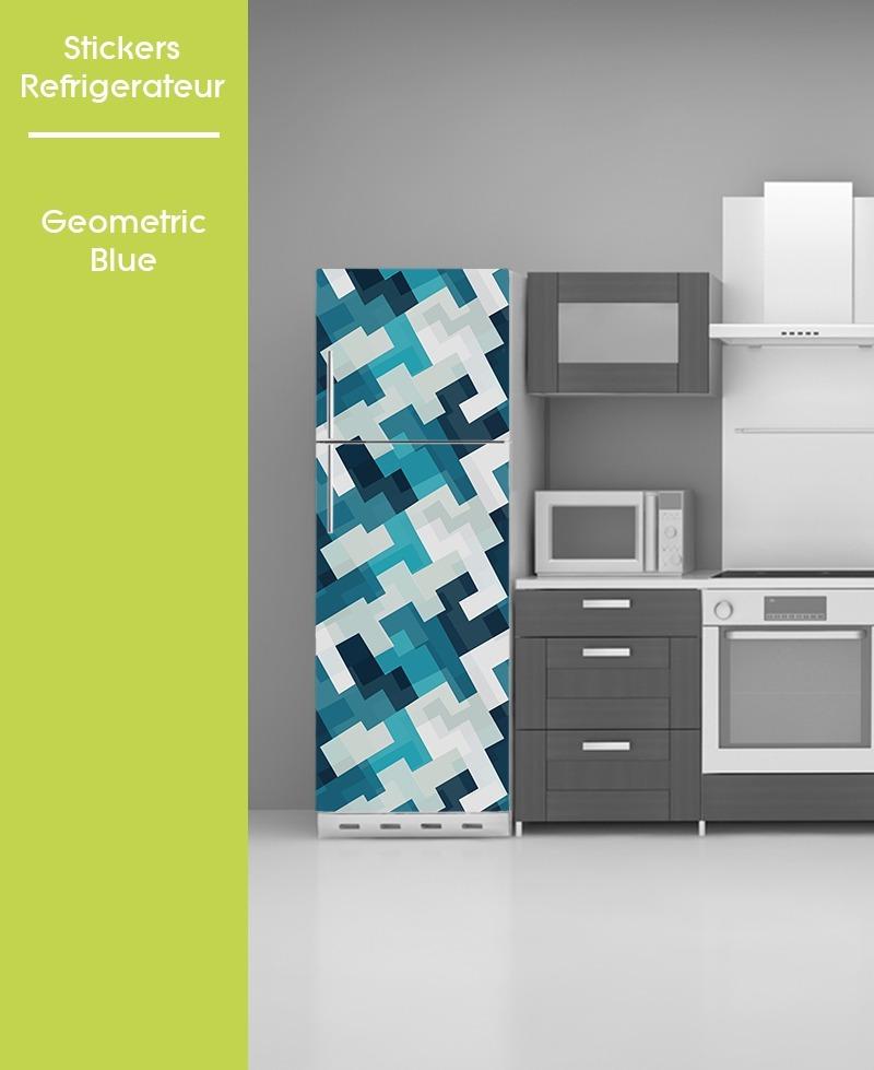 sticker pour frigo bleu go - Frigo Bleu