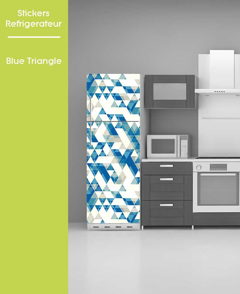 Sticker pour frigo - Blue Triange
