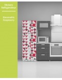 Sticker pour frigo - Geometric Raspberry