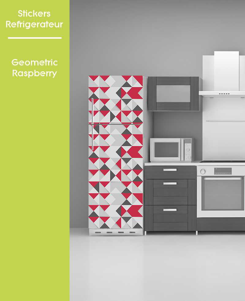 Sticker pour frigo - Geometric Raspberry