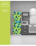 Sticker pour frigo - Geometric Colors