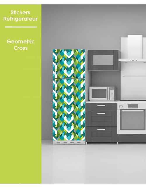 Sticker pour frigo - Geometric Cross