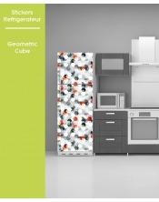 Sticker pour frigo - Geometric Cube