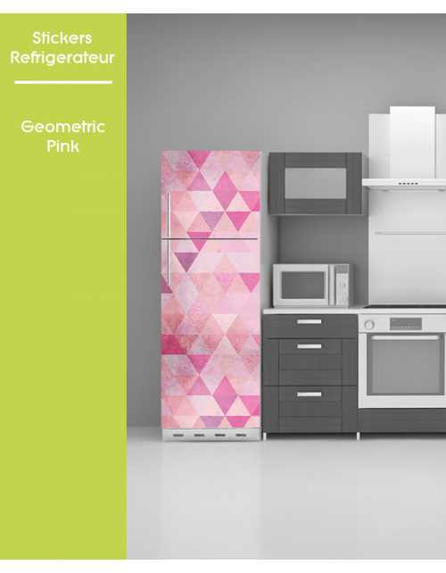 Sticker pour frigo - Geometric Pink