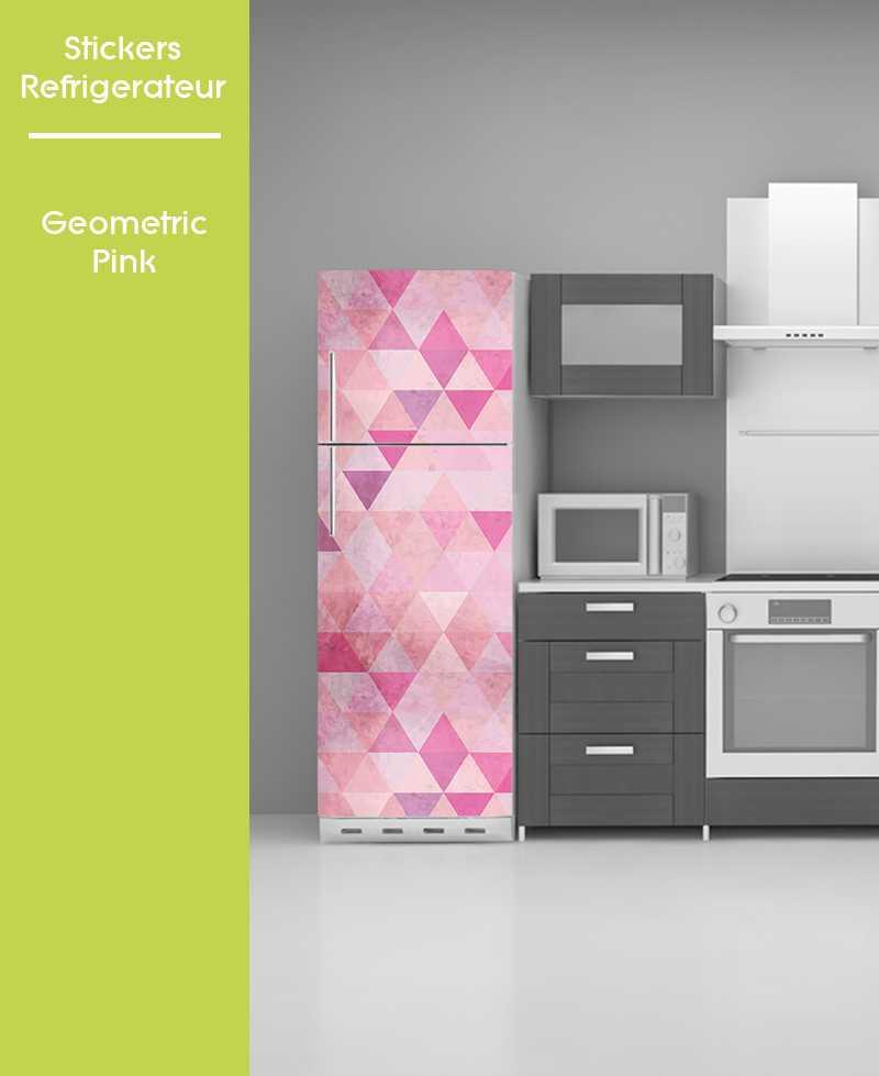 Sticker pour frigo - Geometric Pink