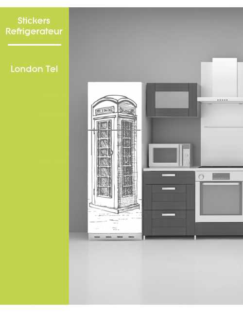 Sticker pour frigo - London Telephone