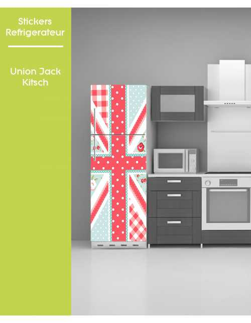 Sticker pour frigo - Kitch Union Jack