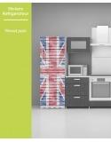 Sticker pour frigo - Wood Union Jack