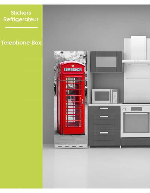 Sticker pour frigo - Telephone Box London