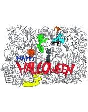 Poster à colorier Halloween