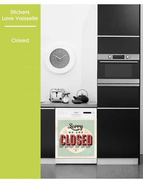 Sticker pour Lave Vaisselle - Closed