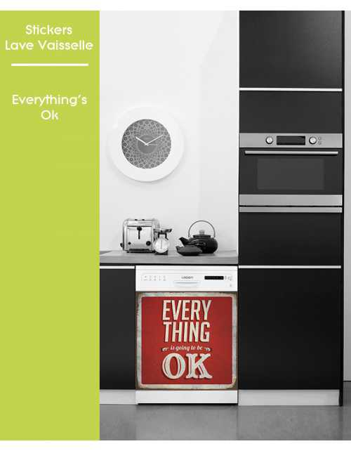 Sticker pour Lave Vaisselle - Everything's OK