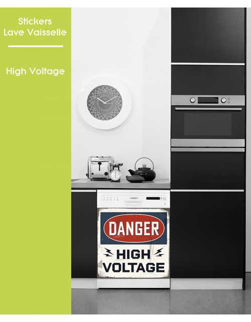 Sticker pour Lave Vaisselle - High Voltage