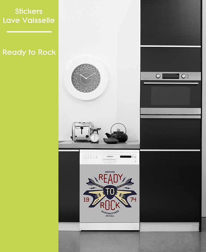Sticker pour Lave Vaisselle - Ready to Rock